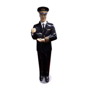 Aircraft Pilot Statue-0