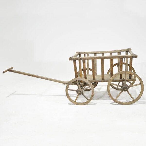 Wooden Rustic Flower Cart-18289