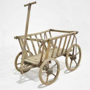 Wooden Rustic Flower Cart-0