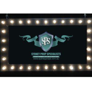 Illuminated Bulb Sign Board Frame-0