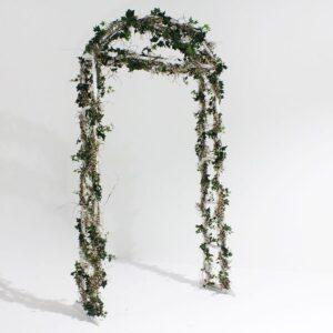 White Wooden Garden Arch-0