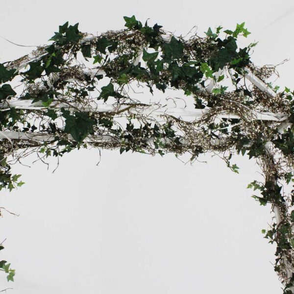 White Wooden Garden Arch-18398