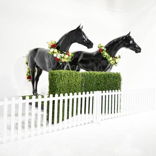 Life Size Black Horse-18569
