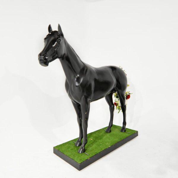 Life Size Black Horse-18570