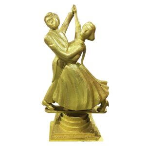 Gold Dancing / Dance Couple Statue-0