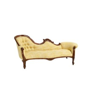 Yellow Floral Ornate Chaise Lounge-0