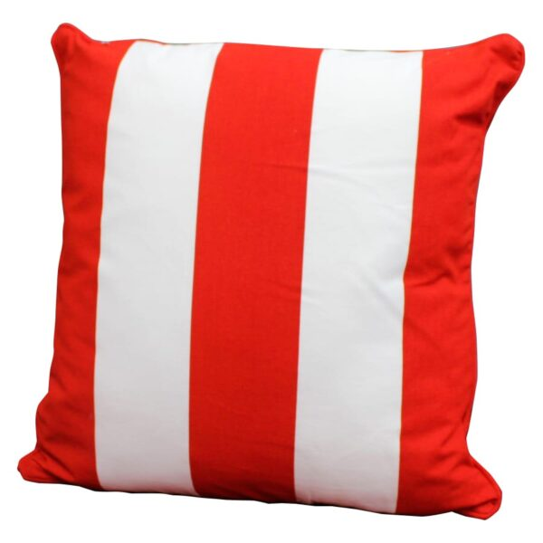Nautical - Cushion, red and white striped-0