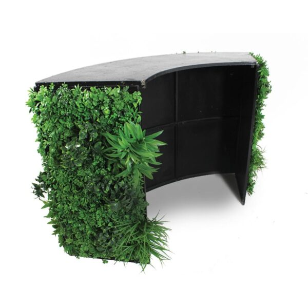 Foliage Covered Curved Bar Section-18729