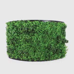 Foliage Covered Curved Bar Section-0