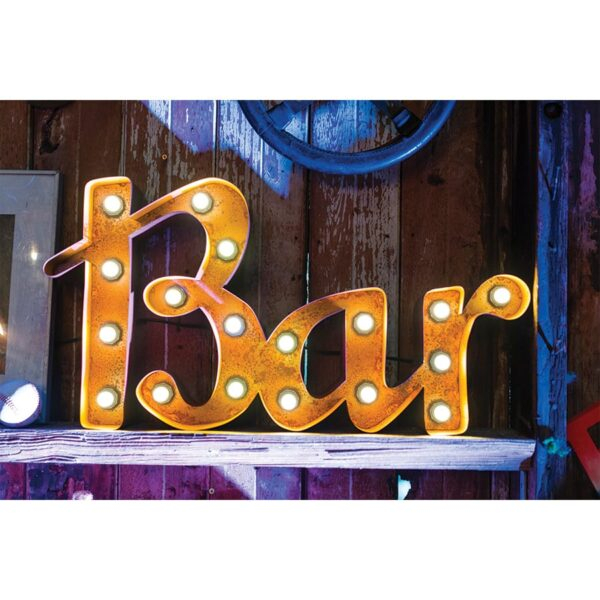 "Illuminated Marquee ""Bar"" Sign-0"