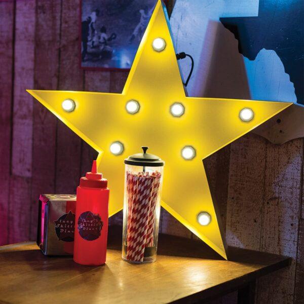 Illuminated Marquee Star Sign-0