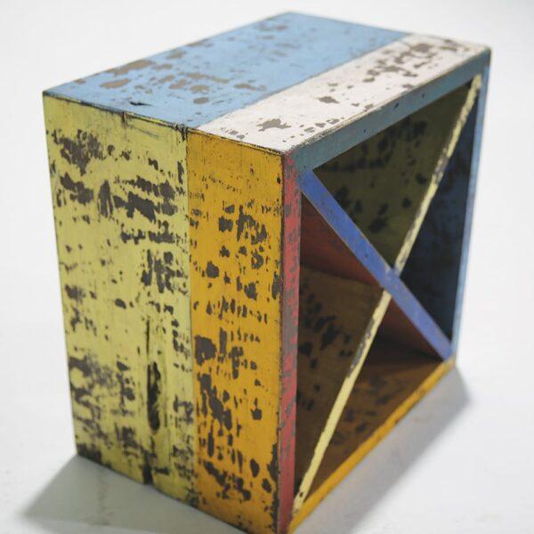 Multi-coloured Rustic Wine Racks/Stools-18625