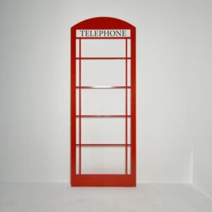 Telephone Booth Flat, English style, red-0