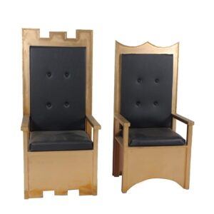 Throne 13 and 14 - Gold and Black King Queen Throne-0