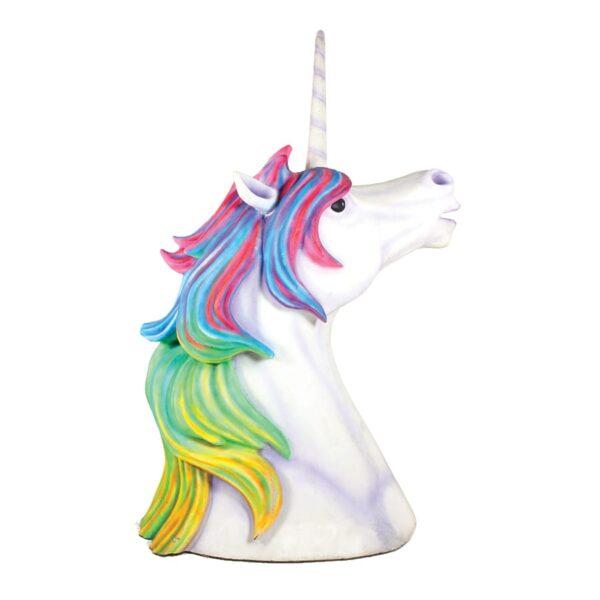Giant Unicorn Head, rainbow mane-0