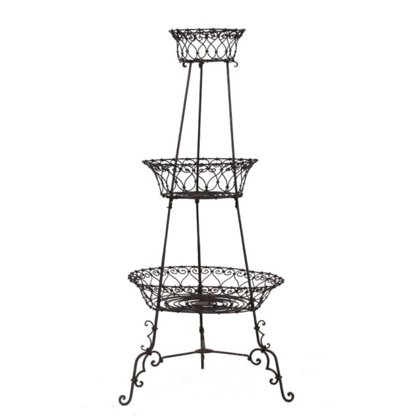 3 Tiered Black Wire Metal Stand for hire - sydney props