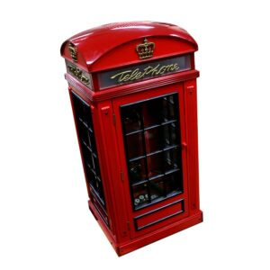 Miniature UK British Telephone Phone Box-0