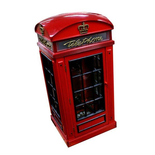 Miniature UK British Telephone Phone Box-0