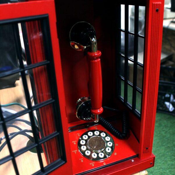 Miniature UK British Telephone Phone Box-18774
