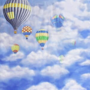 SKY CLOUD WITH HOT AIR BALLOON BACKDROP BD-0016-0