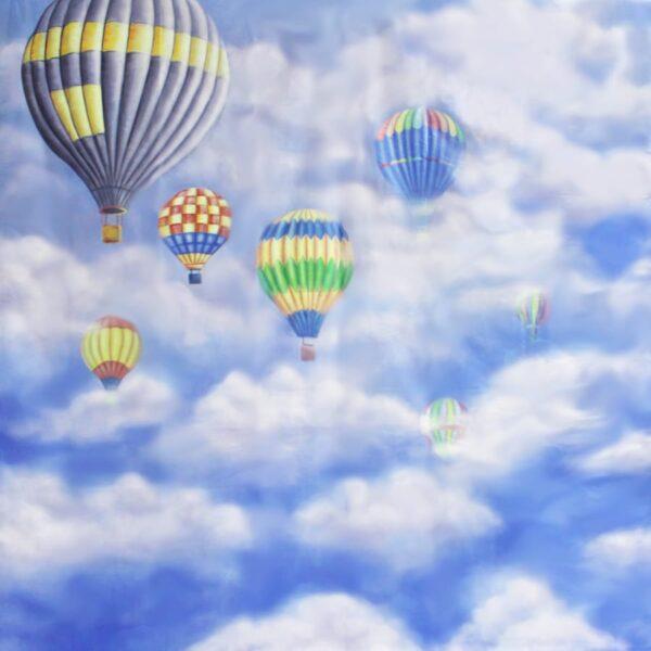 SKY CLOUD WITH HOT AIR BALLOON BACKDROP BD-0016-0