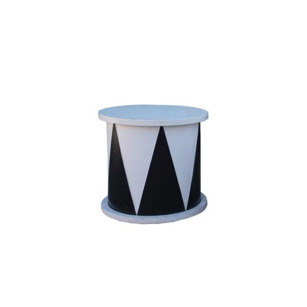 small cylindrical circus plinth for hire - sydney props