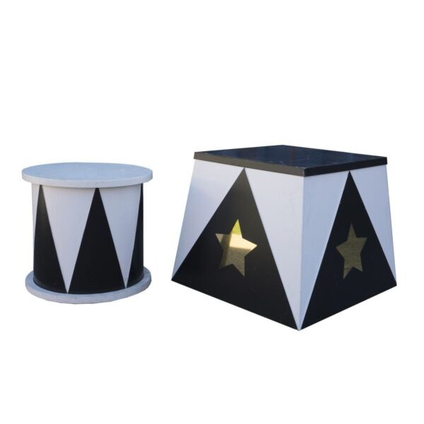 Small Trapezoid Plinth with star-18907