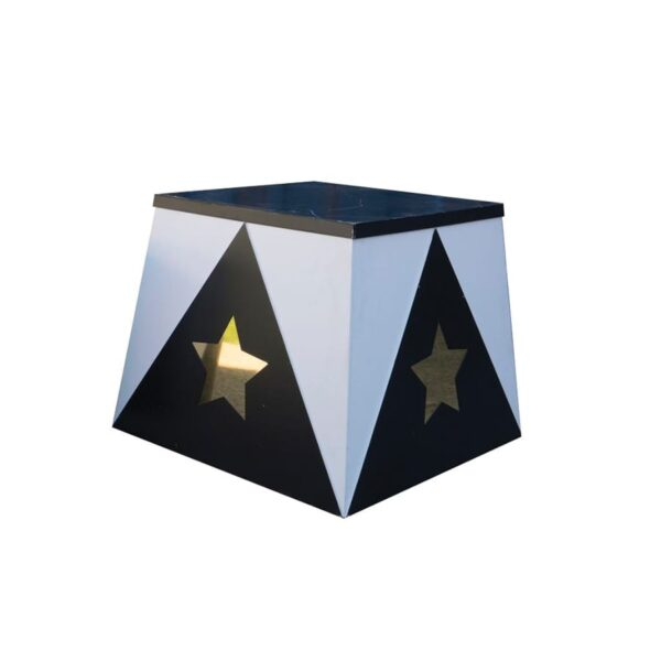 Small Trapezoid Plinth with star-0