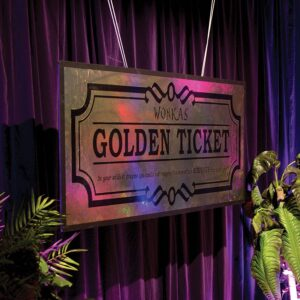 "Giant Willy Wonka's ""Golden Ticket"" Sign-0"