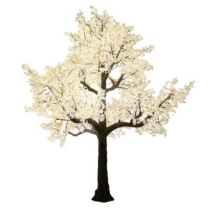 Large Illuminated White Tree-0