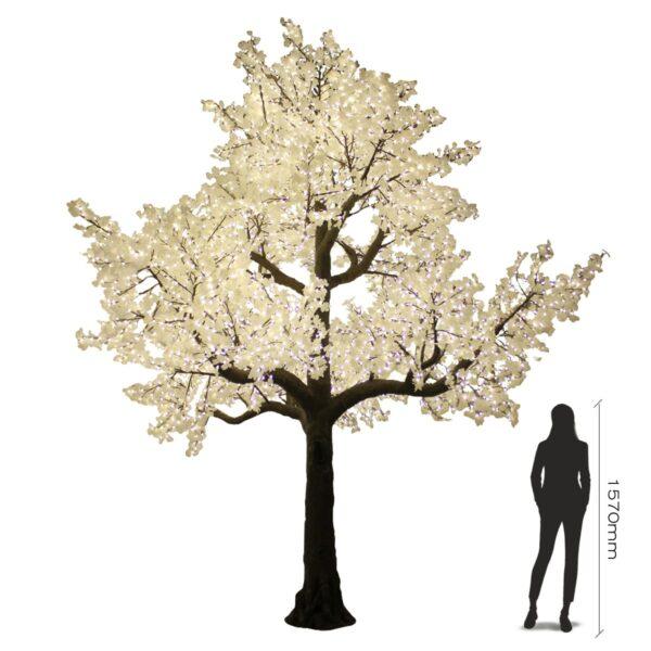 Large Illuminated White Tree-19009