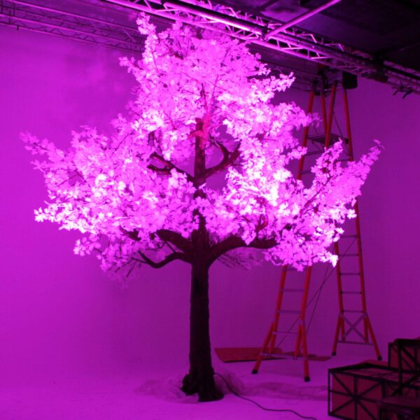 Illuminated White Tree (pink lit) - Sydney Prop Specialists HIRE