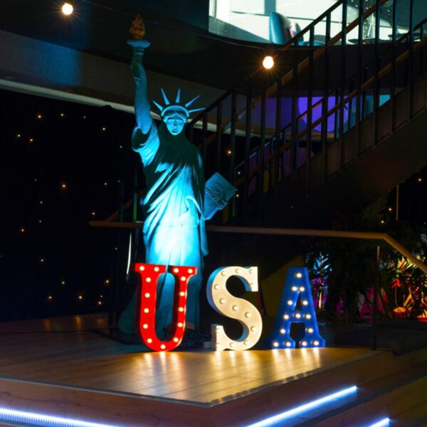 """""""USA"""" Marquee Letters-18999"""