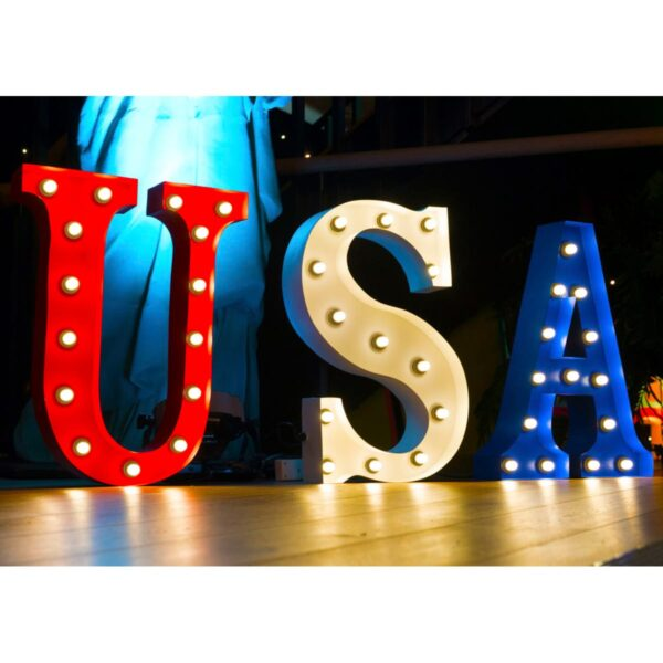 """""""USA"""" Marquee Letters-0"""