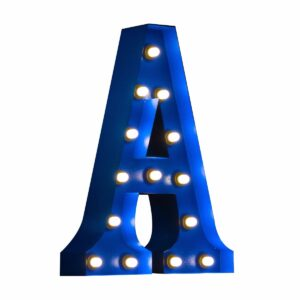"""A"" Marquee Letter, blue-0"