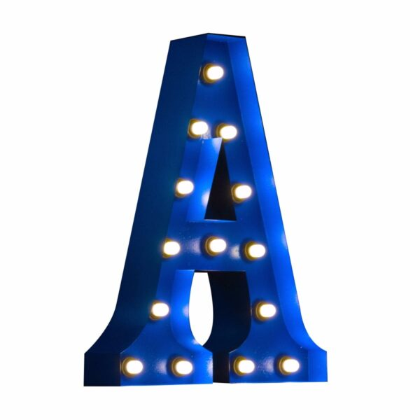 """""""A"""" Marquee Letter, blue-0"""