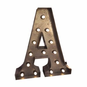 """A"" Marquee Letter, rust-0"