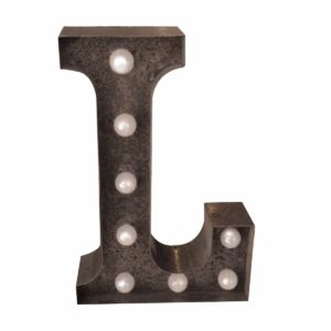 """L"" Marquee Letter, rust-0"