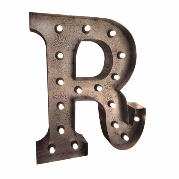 """""""R"""" Marquee Letter, rust -0"""