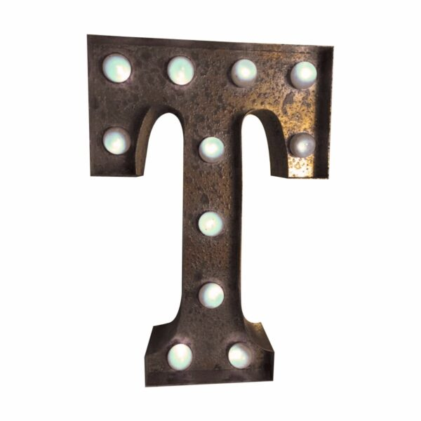 """""""T"""" Marquee Letter, rust-0"""