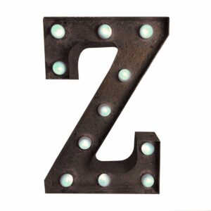 """Z"" Marquee Letter, rust -0"