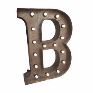 """B"" Marquee Letter, rust-0"