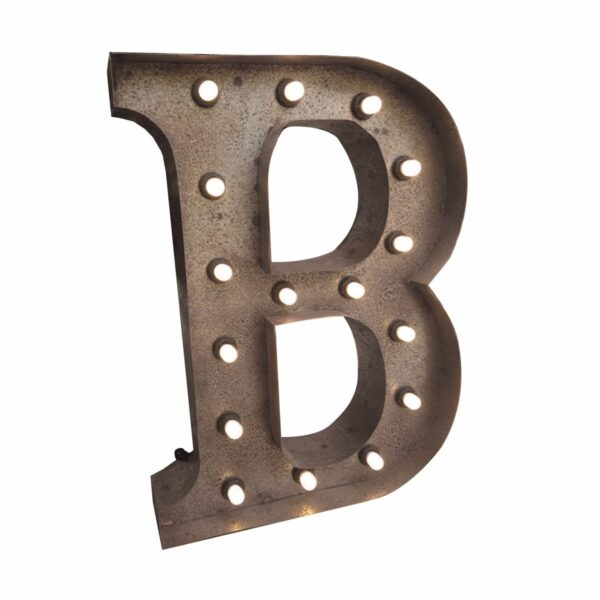 """""""B"""" Marquee Letter, rust-0"""