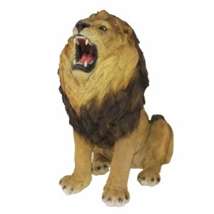 Sitting Lion Statue-0