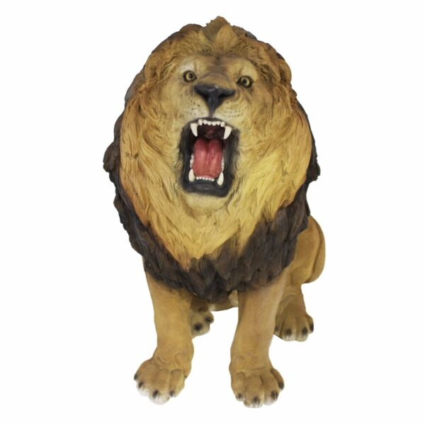 Sitting Lion Statue-19139