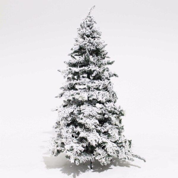 Snowy Illuminated Christmas Tree-0