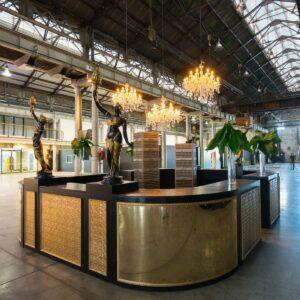 Large Circular Art Deco Bar -0