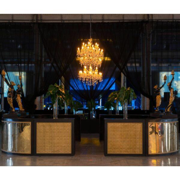 Large Circular Art Deco Bar -19195