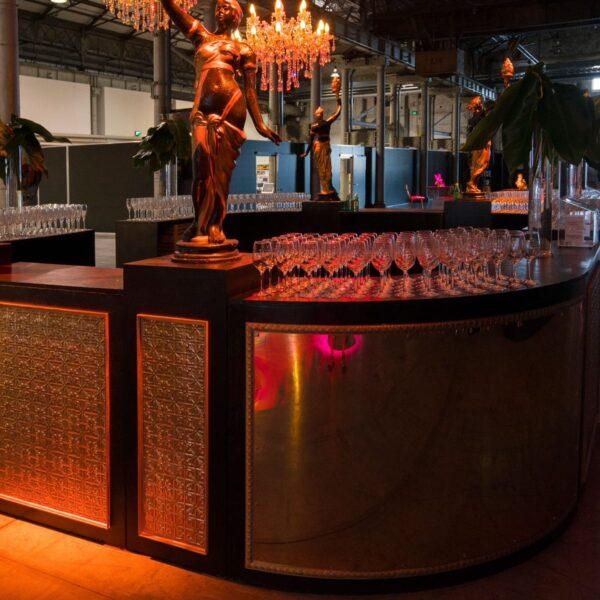 Large Circular Art Deco Bar -19196