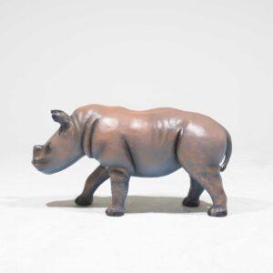 Life-Size Baby Rhinoceros Statue-0